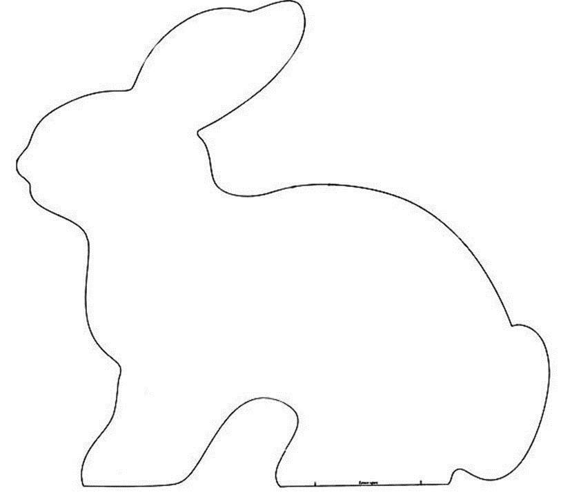 форма для вырезания кролика