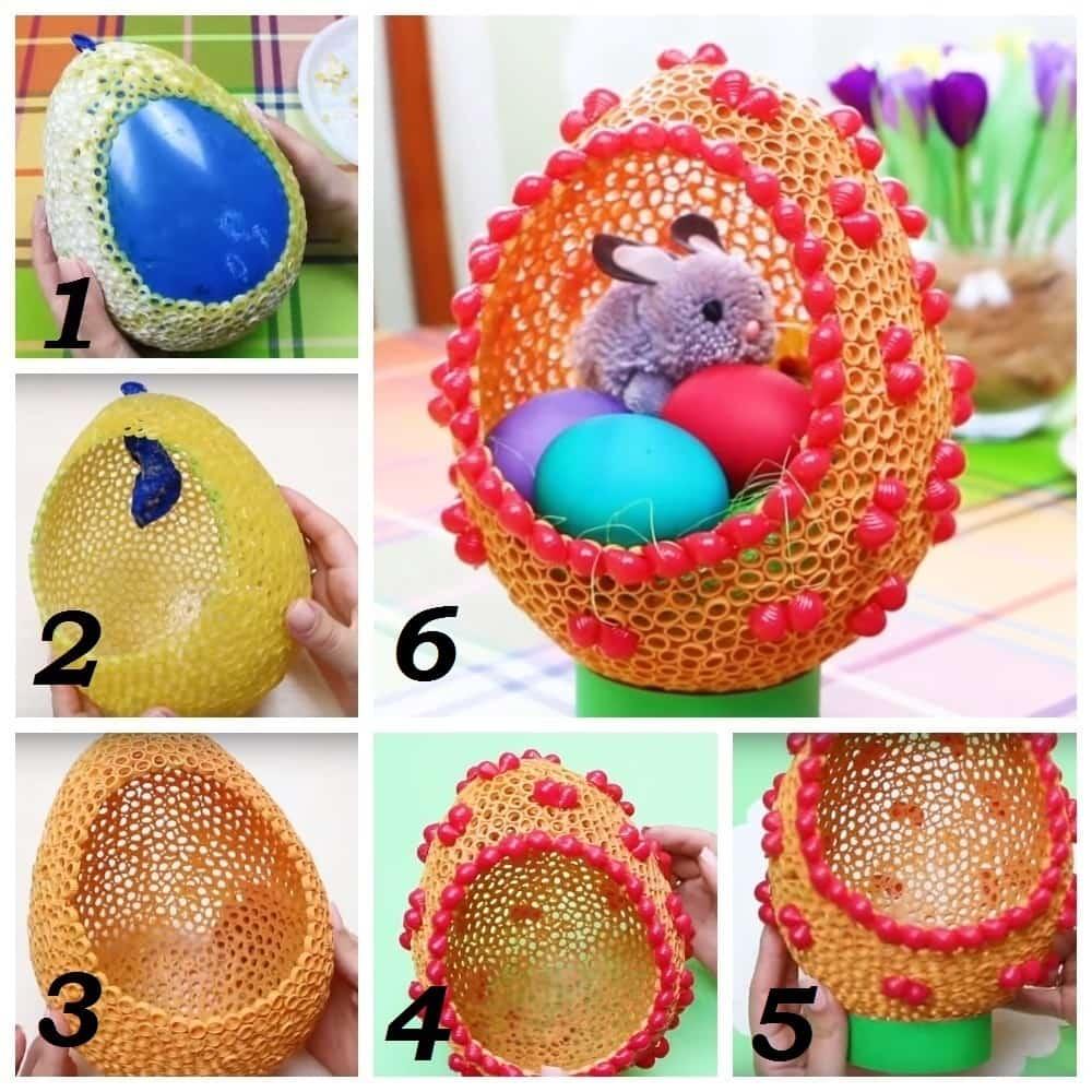 яйцо из макарон