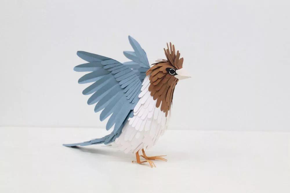 бумажная птичка