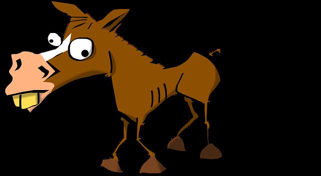 смешной конь