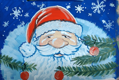 Дед Мороз красками