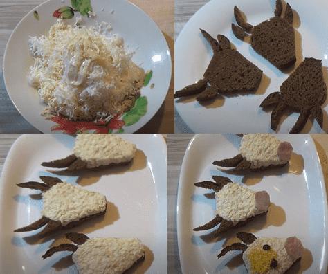 Ход приготовления закуски