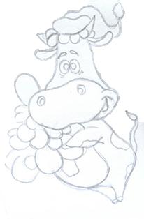 рисуем быка-шаг 5