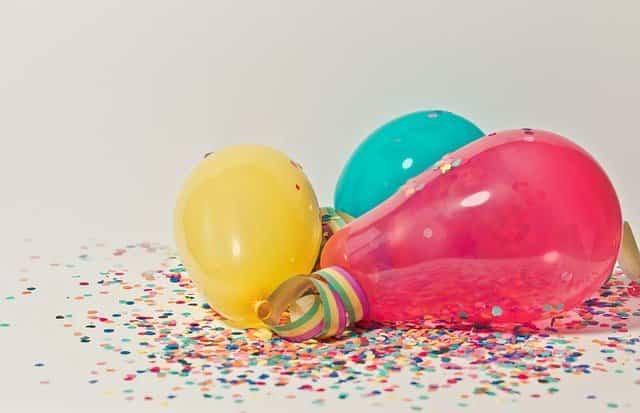 шары и конфетти