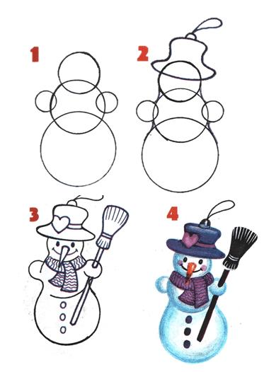 Снеговик-этапы