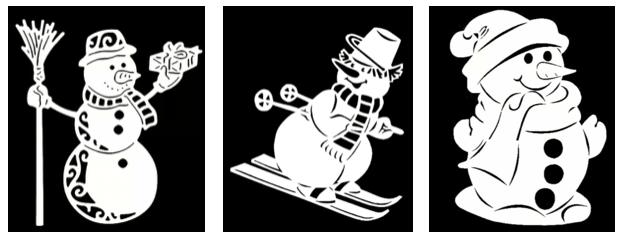 Вытынанки - снеговики