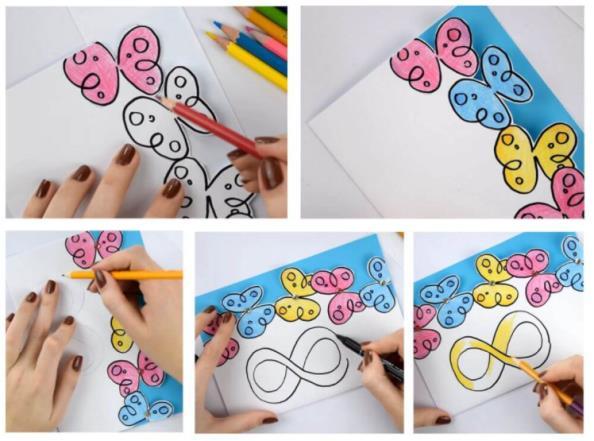 2 этап изготовления бабочек