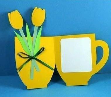 чашка с цветами из бумаги