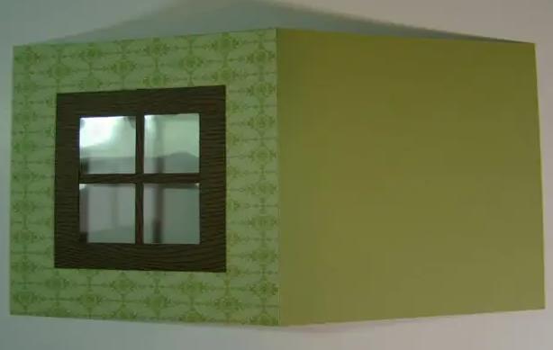 основа открытки с окном