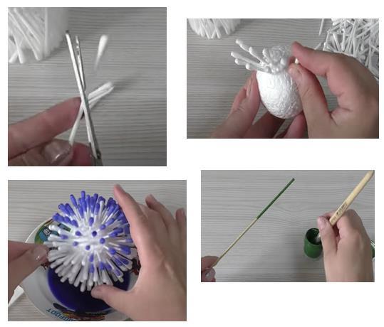 изготовление шара из полочек