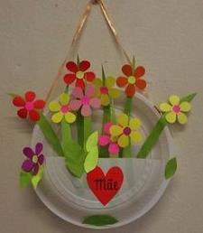 цветы в тарелке