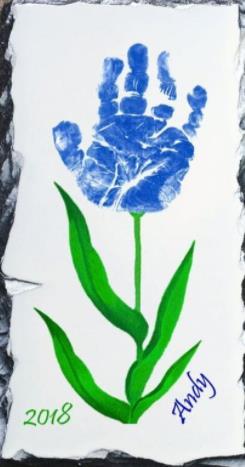 идеи отпечатков синий