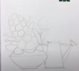 карандашная композиция
