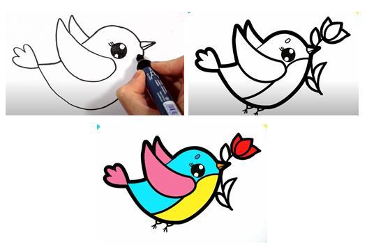 коллаж пташки