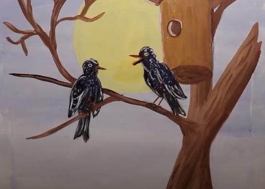 прорисовываем птиц
