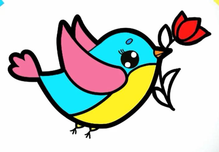 пташка с тюльпаном