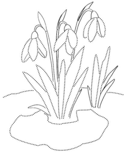 пунктирные цветочки