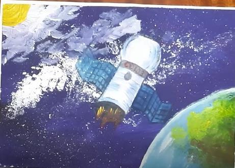 рисунок спутника