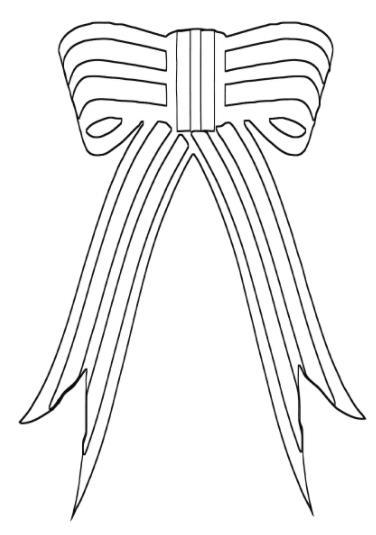бантик из ленты