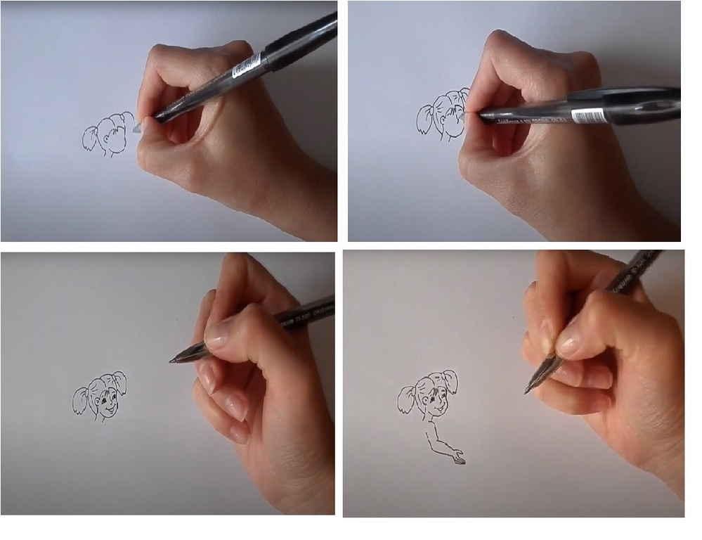 Девочка ручкой