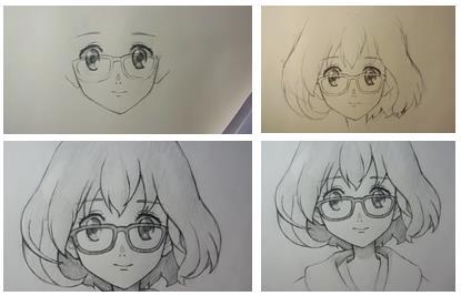 девочка аниме с каре