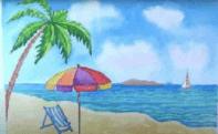 пляж и пальма