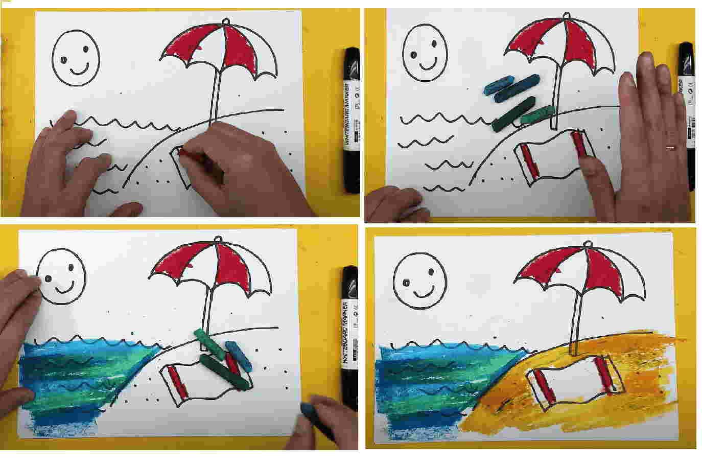 дорисовываем зонт