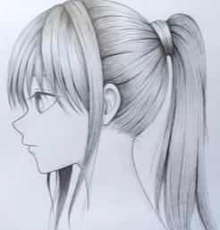 девушка аниме с хвостом