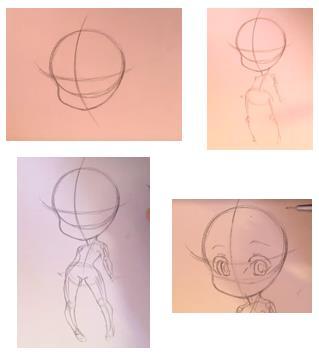 творческий скелет рисунка
