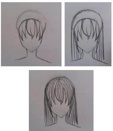 укладка рисунок карандашом
