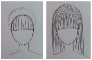 волосы аниме карандашом
