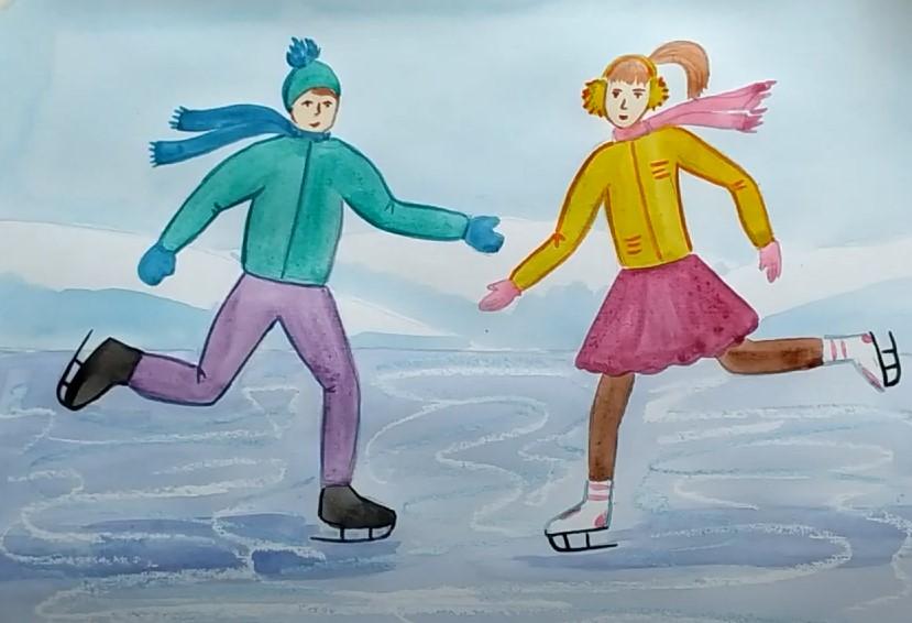 зимние забавы рисунок
