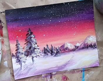 ночь зимой