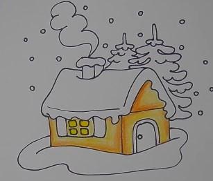 желтая основа дома