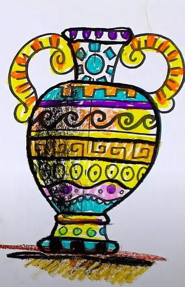 ваза с греческим узором