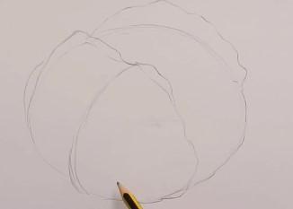 эскиз простым карандашом