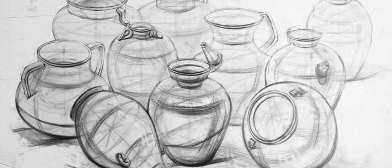 ваза карандашом