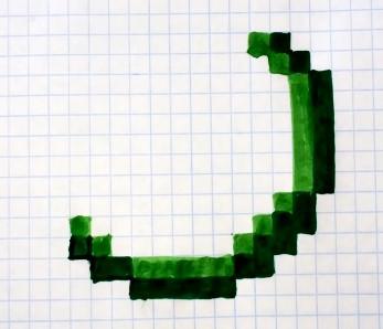 светло-зеленым дублируем корку