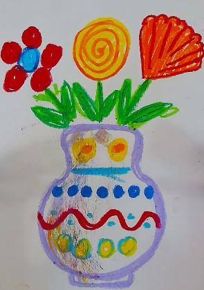 легкий рисунок вазы