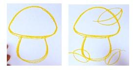 желтый набросок гриба