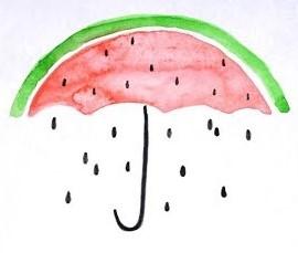 зонтик в виде арбуза