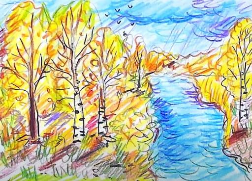 рисунок осень для 4 класса