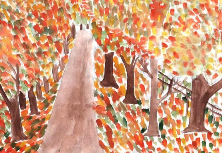 аллея в осеннем парке
