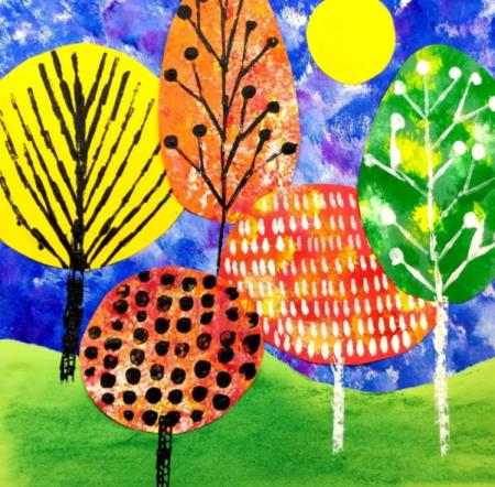 деревья с орнаментом