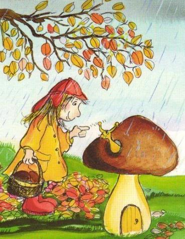 девочка в дождевике