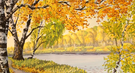 рисунок осень для начинающих детей