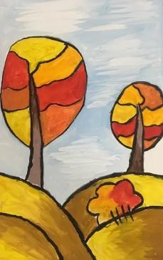 два ярких деревца