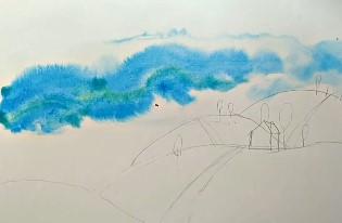 голубенькое пятно неба