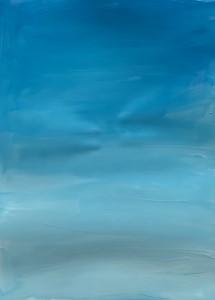 голубой фон неба краской