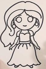 эскиз куклы простым карандашом